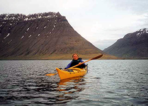 Kayaking in vestfjords Iceland